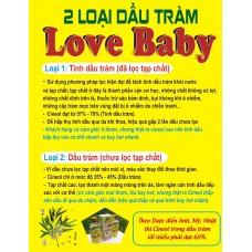Công dụng Dầu tràm Love Baby